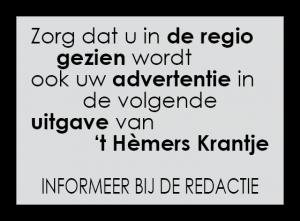 adverteren in 't Hèmers Krantje